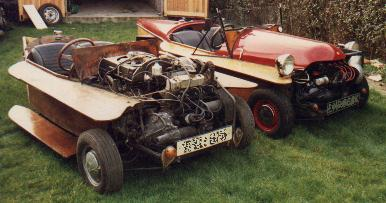 The prototype supercharged AF Spider in 'as found' condition together with another AF Spider