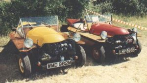 The 1974 Spider (yellow) and the Spider that was originally LHD (red)