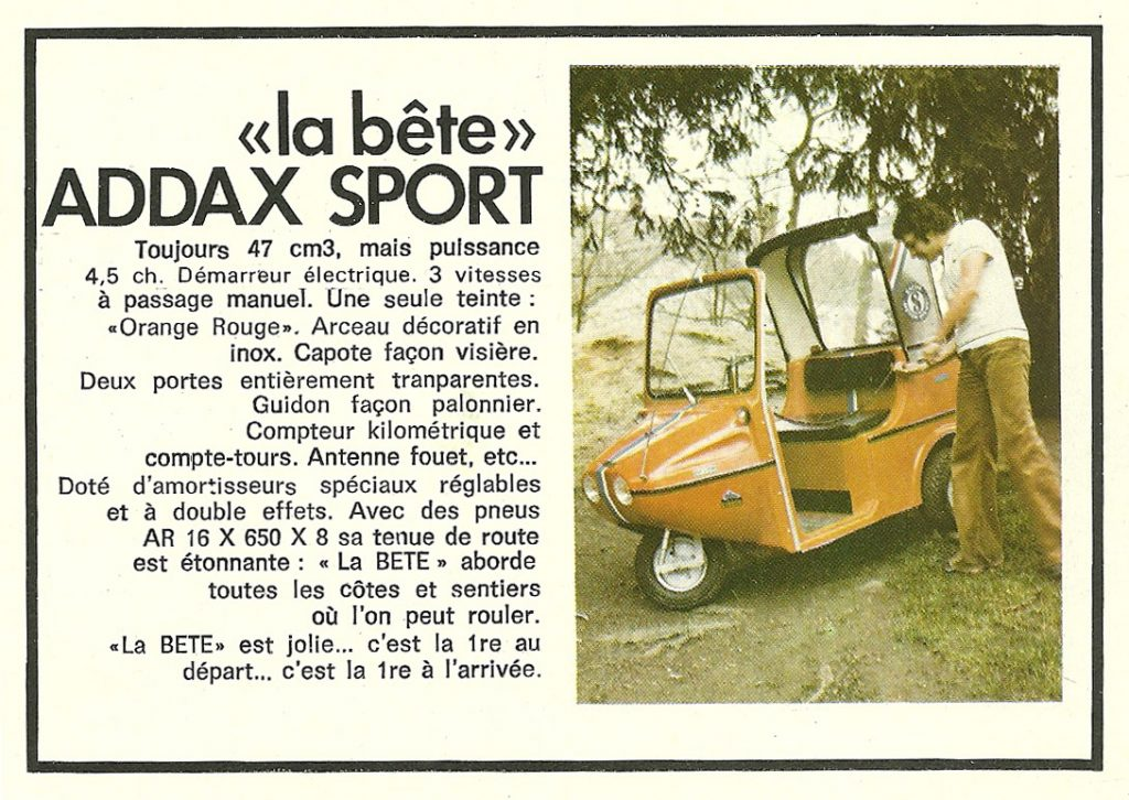 Addax Type 47 Version Sport