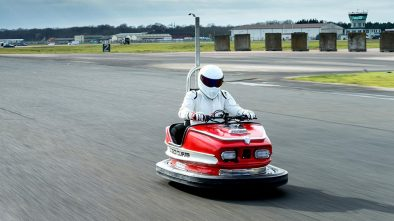 The Stig in a modified bumper car