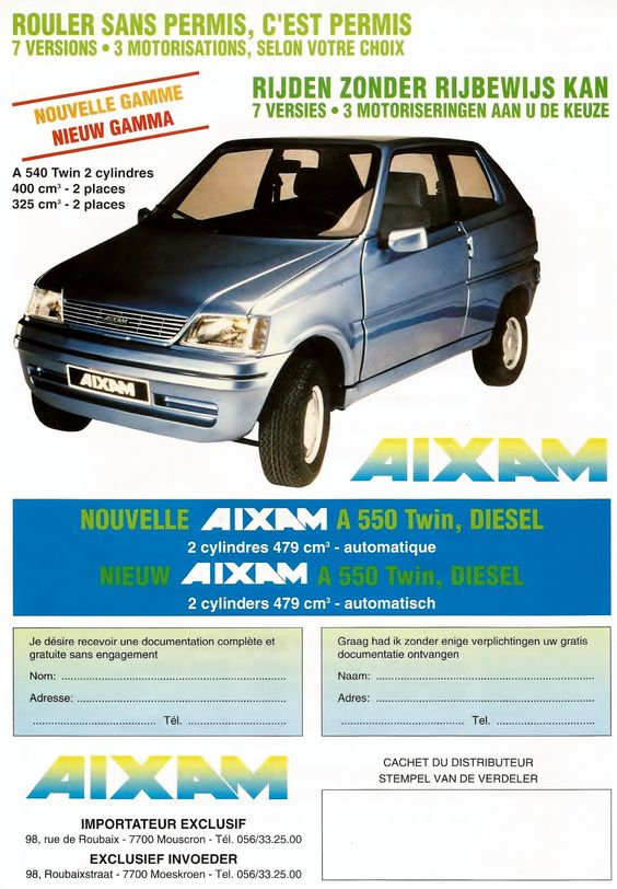 AIXAM A 550 Twin brochure