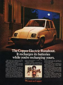 Copper Electric Runabout