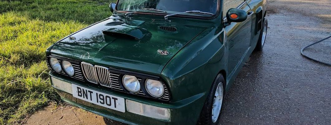 Leyland Mini with BMW E30 M3 styling