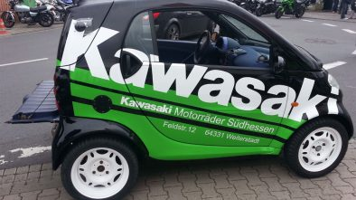 Smart with 200 hp engine from a superbike