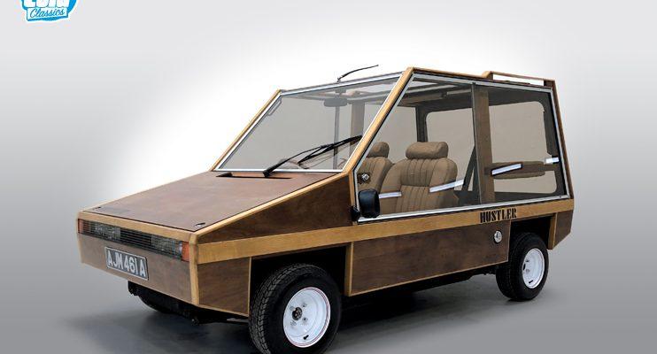 Rare wooden Hustler kit car from Aston Martin designer for sale